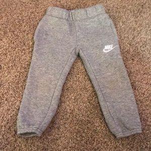 Nike Gray Little Boy Sweatpants